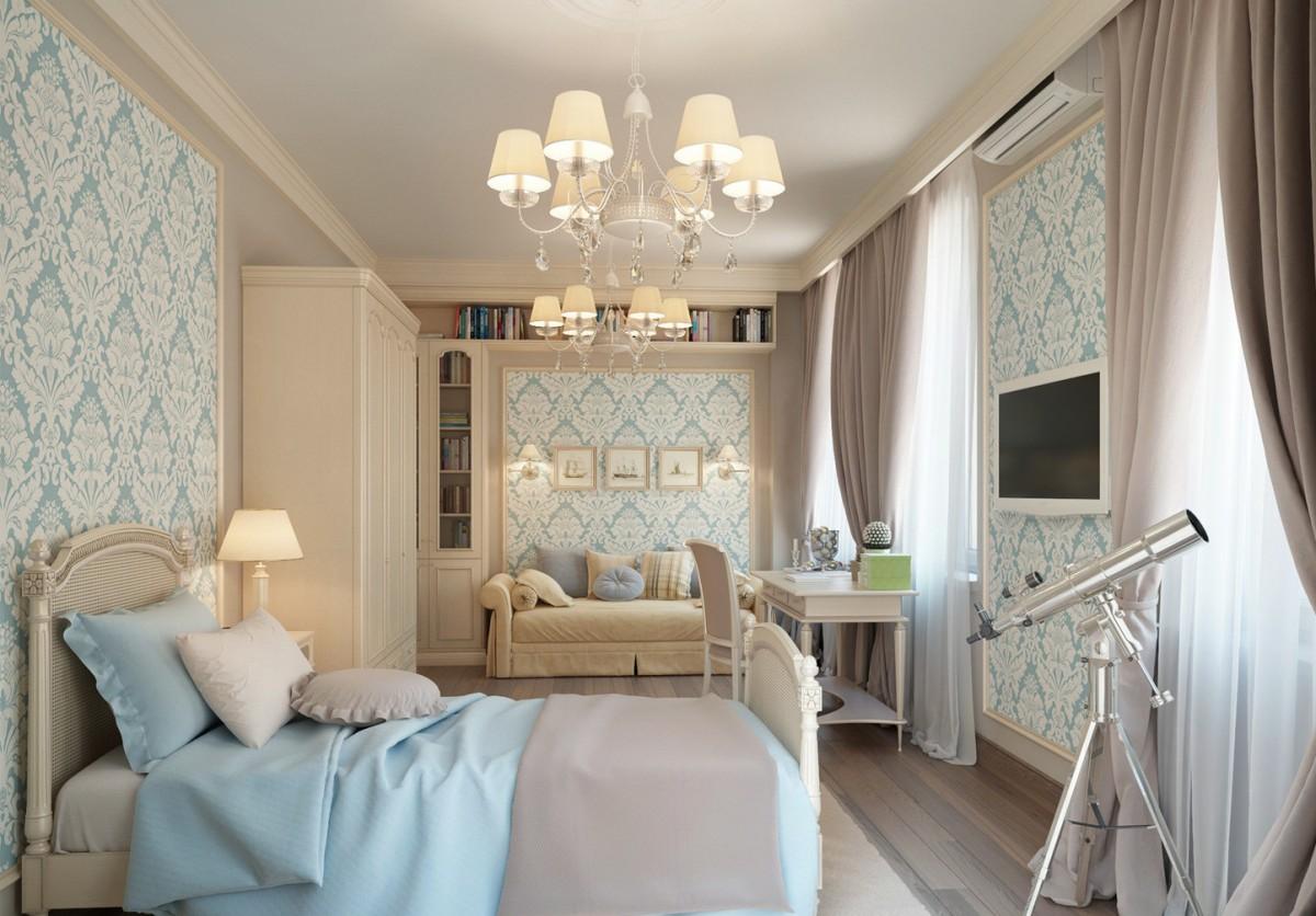Прямоугольная спальня дизайн фото